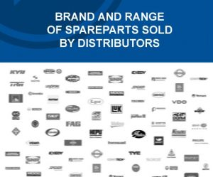 Report: Brand and range of spareparts sold by distributors