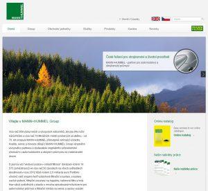 Nové webové stránky MANN+HUMMEL