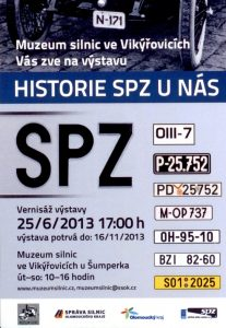 "Pozvánka na výstavu ""Historie SPZ u nás"""