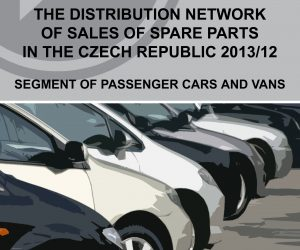 Report: The distribution network of sales of spare parts in the Czech republic 2013/2012 - segment of passenger and vans