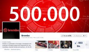BREMBO má na Facebooku 500.000 fanoušků