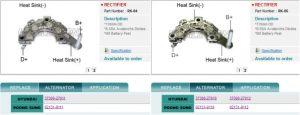 Elán Car: Problémy s diodovými bloky Kia / Hyundai  – čísla alternátorů  37300-270xx nebo 02131-91xx