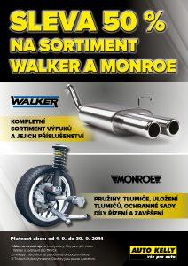 Sleva 50% na sortiment Walker a Monroe