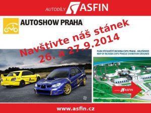 Autodíly ASFIN na výstavě Autoshow 2014