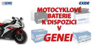 Genei: Motocyklové baterie EXIDE