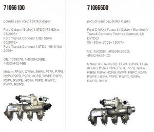 KS Motor: Novinka Wahler – potrubí sání na Ford Transit 1,8TDCI