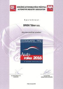 Brisk je dodavatel pro auto roku 2016