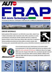 Společnost FRAP v nabídce Autoparts