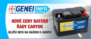 Nové ceny baterií CARYON
