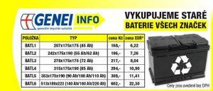 Genei: Výkup starých baterií