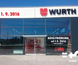 Nová prodejna Würth v Českých Budějovicích