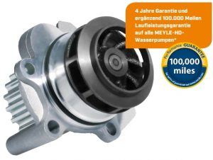 Zdvojnásobený sortiment: MEYLE-HD vodní pumpy pro mnoho aplikací na vozy VW a PORSCHE