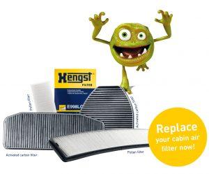 Téma: Postarejte se o čistý vzduch ve vozidle - kabinové filtry Hengst