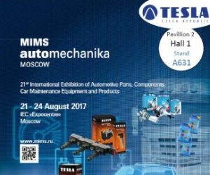 Tesla Blatná na veletrhu Automechanika Moskva 2017