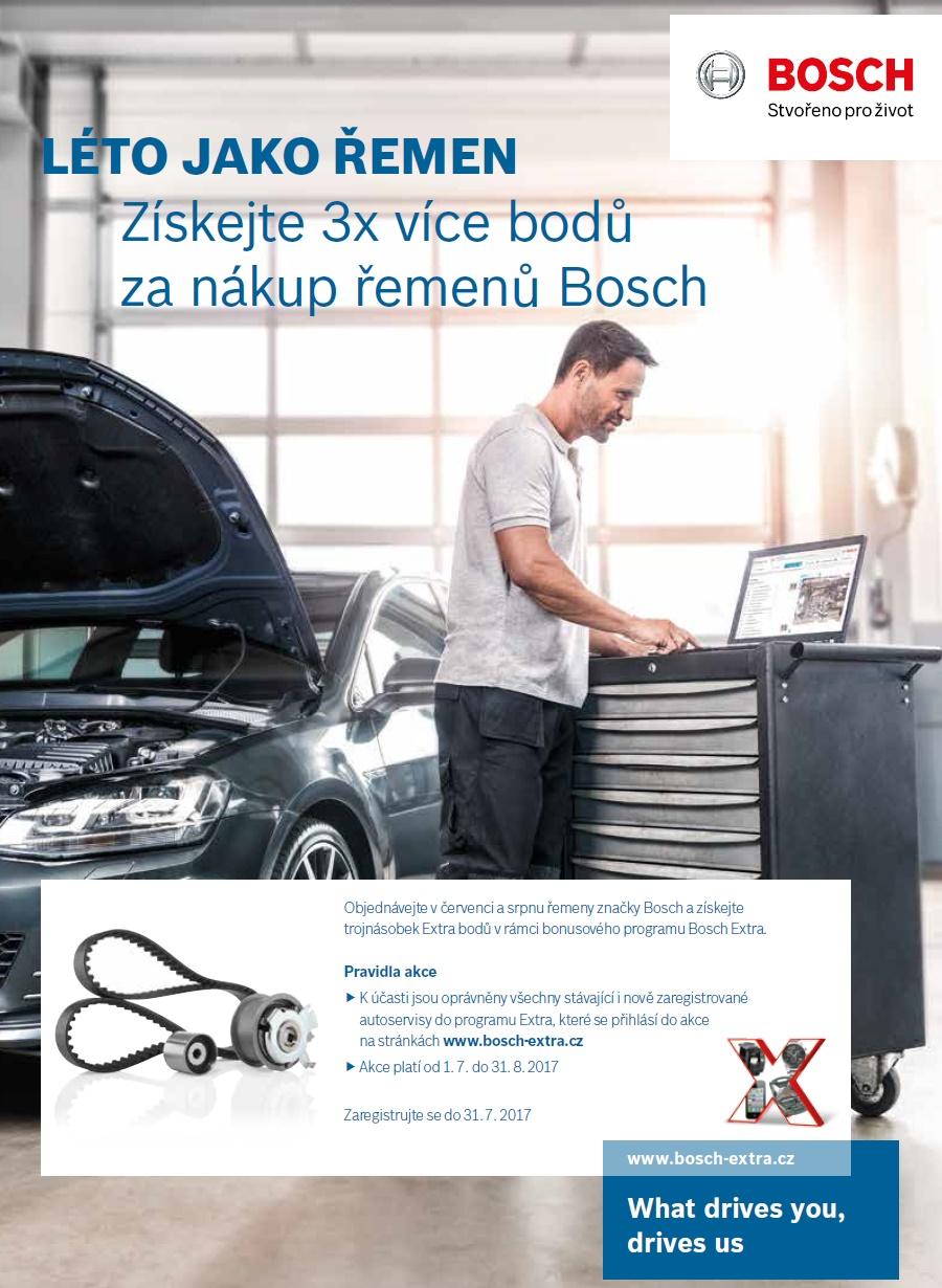 Získejte 3x více bodů za nákup řemenů Bosch