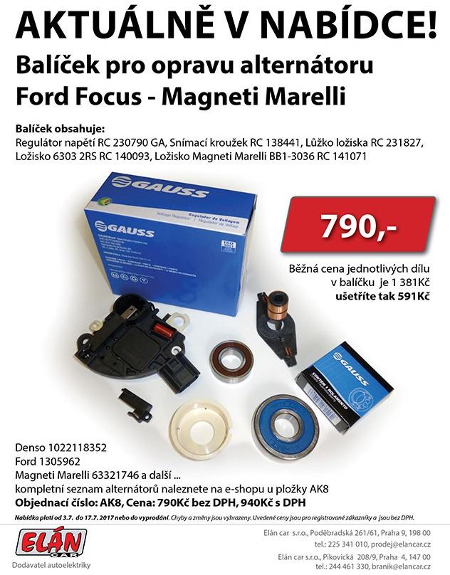 Balíček pro opravu alternátoru Ford Focus - Magneti Marelli