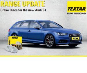 Nové brzdové kotouče Textar pro Audi