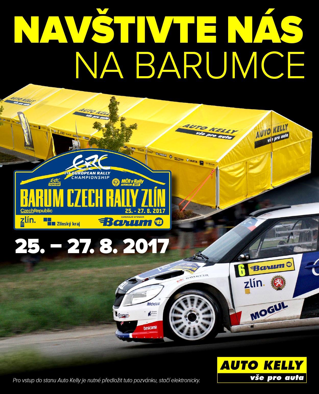 Auto Kelly v servisní zóně Barum Czech Rally Zlín