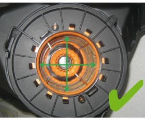 Nesprávná montáž vzduchového filtru v motorech Audi do V