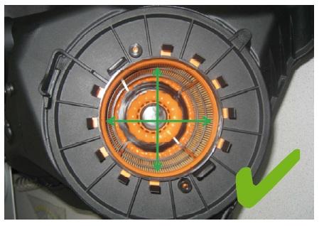 Správně umístěná vložka vzduchového filtru
