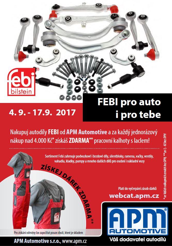 Nakupuj autodíly FEBI a získej pracovní kalhoty