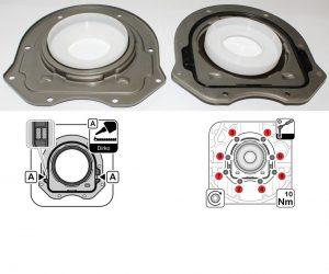 Těsnící kroužek klikového hřídele - montážní rada