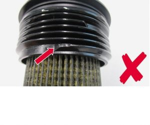 Netěsná filtrační vložka u motorů 1.6 a 2.0 TDi
