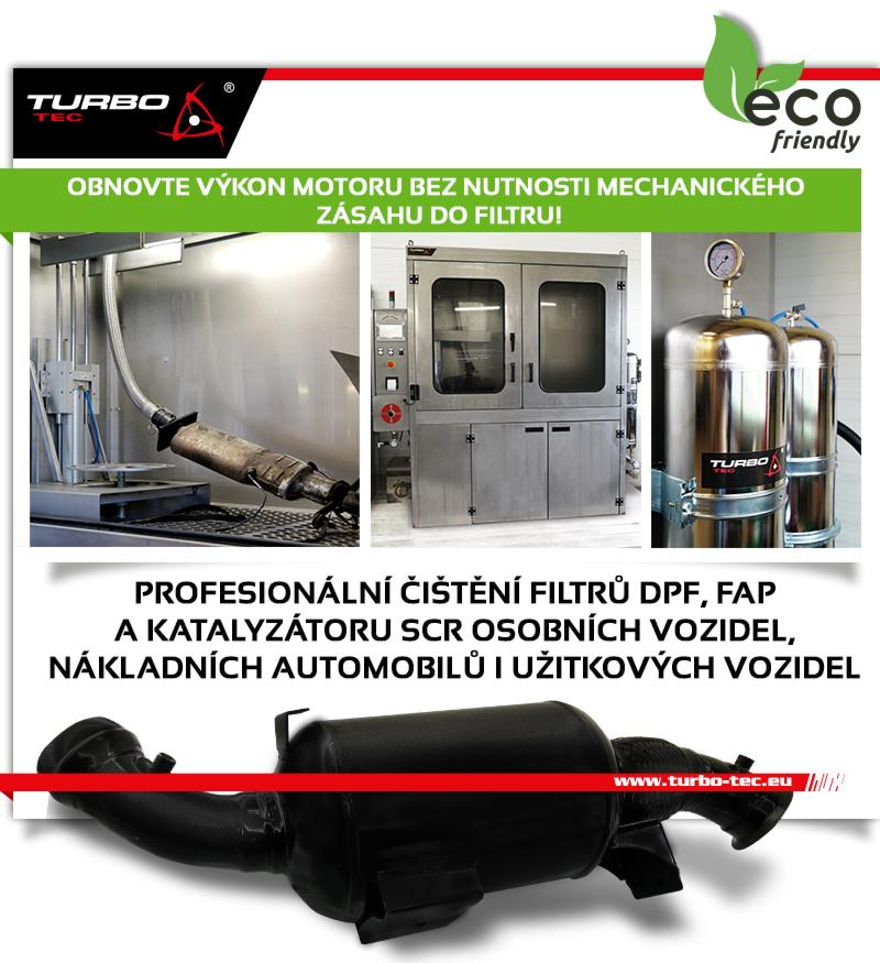 Turbo-Tec nabízí čištění DPF filtrů