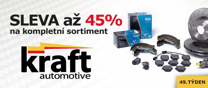 Sleva až 45 % na kompletní sortiment Kraft automotive u JM autodíly