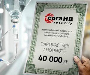 Výtěžek z Mistrovství mechaniků 2017 předán nemocnici Havlíčkův Brod