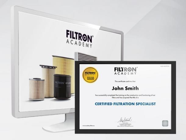 Certifikát Filtron Academy