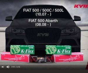 KYB montážní instrukce předních tlumičů FIAT 500
