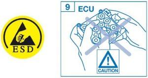 Výstraha k montáži řídící jednotky ABS ATE MK60