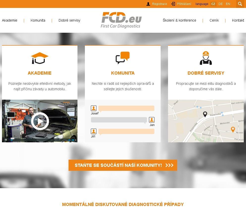 Internetové stránky FCD.eu