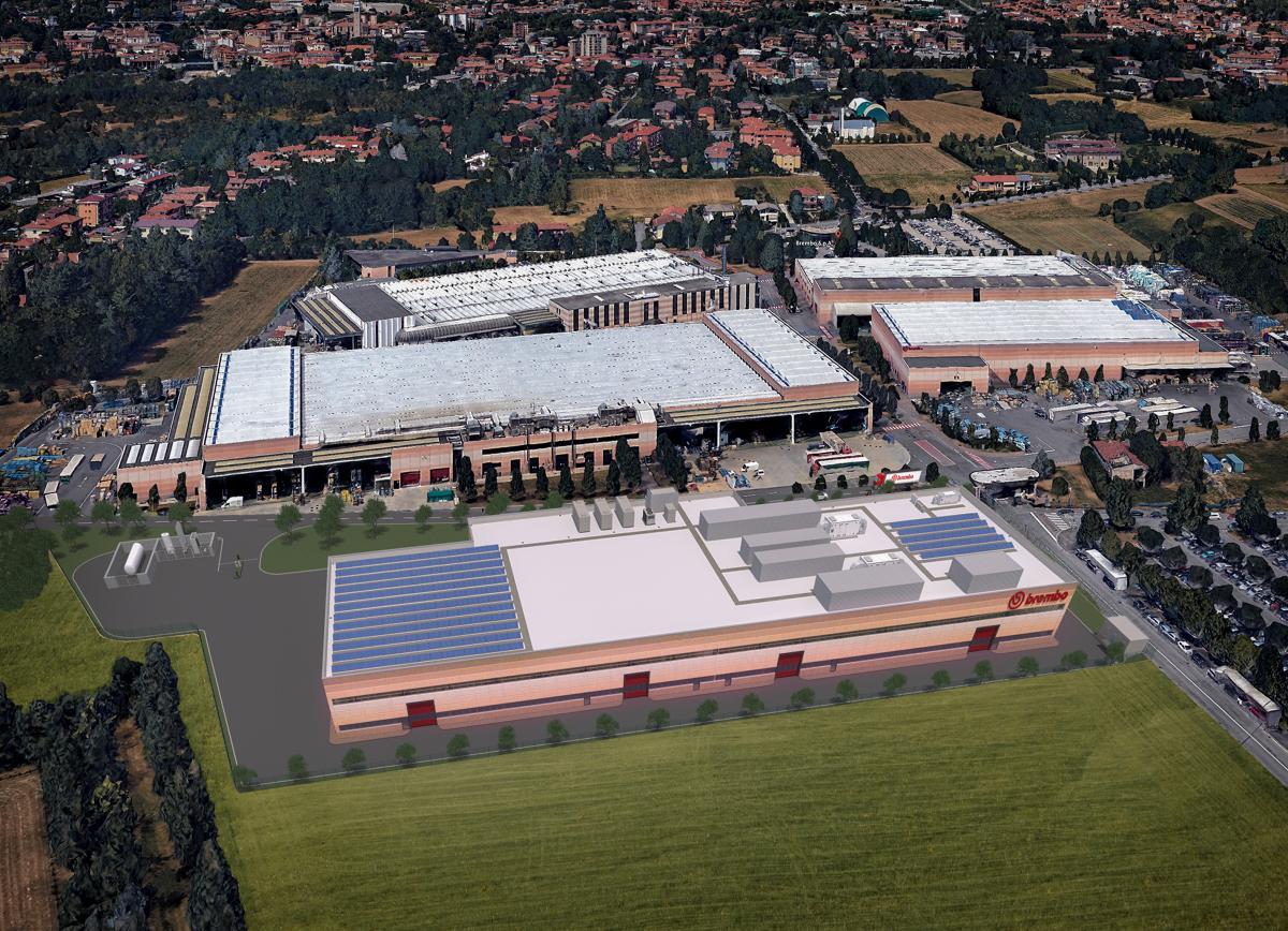 Nová továrna Brembo na výrobu sportovních brzdových kotoučů z uhlíkových vláken