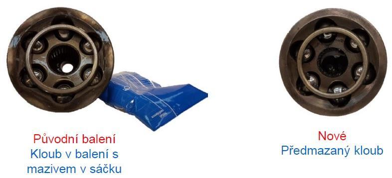 Nové balení kloubů SKF s mazivem