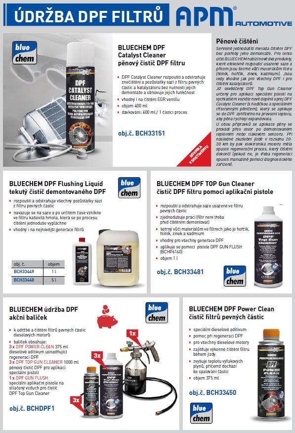 Akce APM údržba DPF filtrů od Bluechem