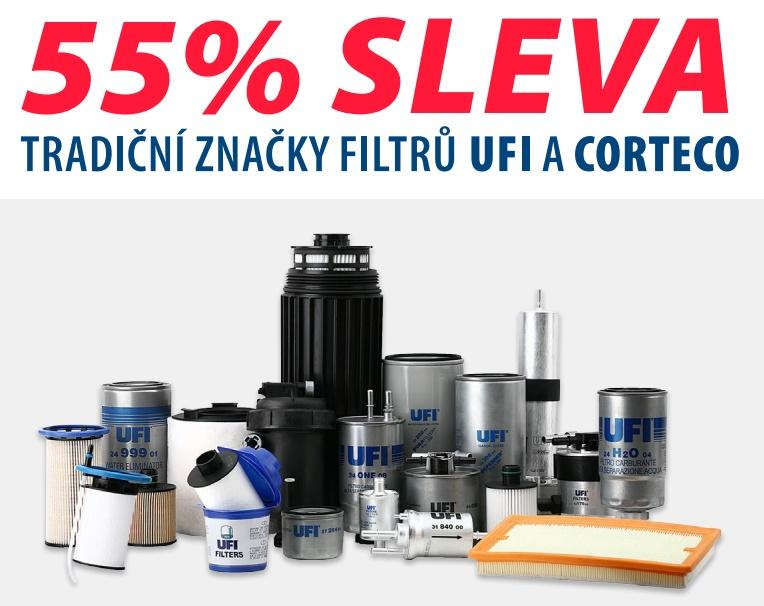 Filtry UFI a Corteco se slevou u ELITu