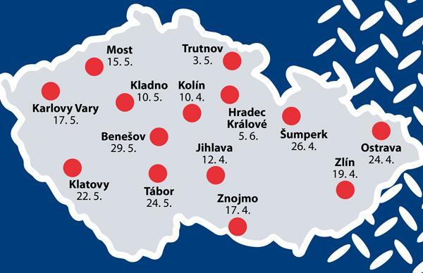 Elit Roadshow se bude konat ve 14 městech po celé České republice