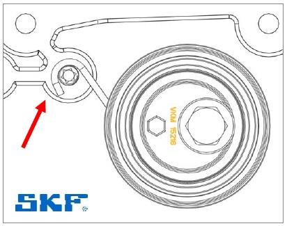 Montáž napínáku SKF VKM 15218 - krok 2