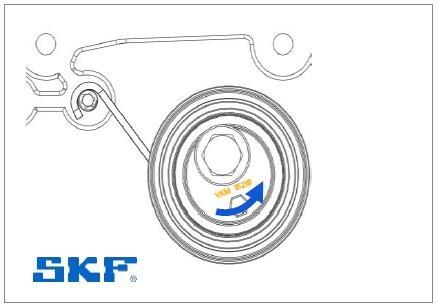Montáž napínáku SKF VKM 15218 - krok 4