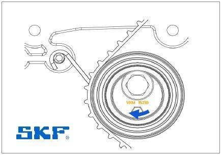 Montáž napínáku SKF VKM 15218 - krok 5
