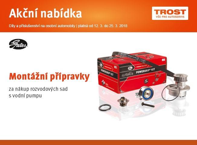 Montážní přípravky za nákup rozvodových sad s vodní pumpou u TROSTu