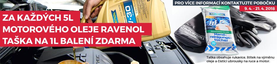 Každých 5l motorového oleje Ravenol = taška na 1l balení ZDARMA
