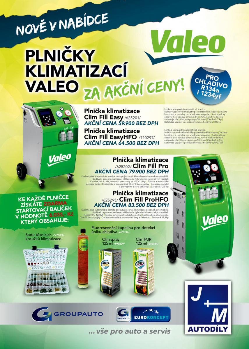 Plničky klimatizací Valeo za akční ceny u JM autodíly