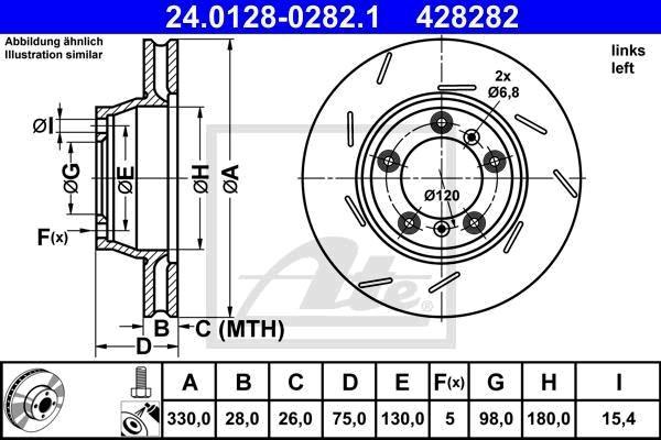 Levý kotoučč. ATE 24.0128-0282.1/objednací č. STG : 10757670
