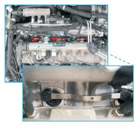 Pákový mechanismus na sacím modulu pro Opel Vectra