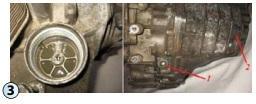 Těleso filtračního prvku a zátka provypuštění oleje z převodovky DSG