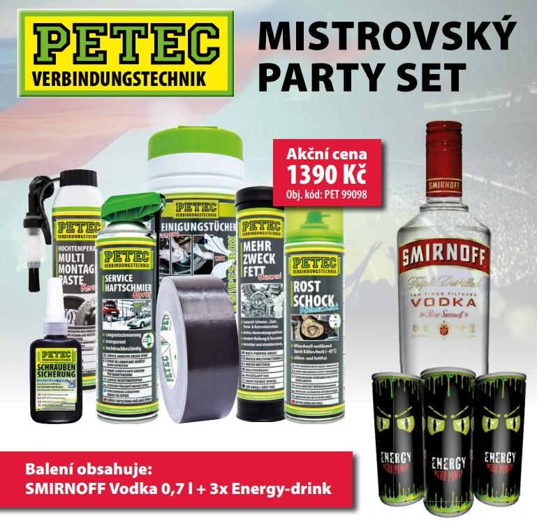 Mistrovský party set k balíčku produktů PETEC od ELITu