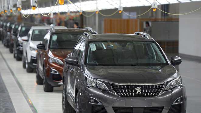 Výrobní linka Peugeot